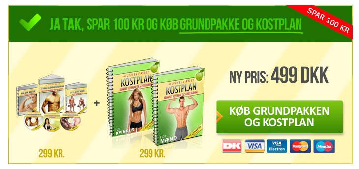 Køb grundpakken og kostprogram - og spar 100 kr